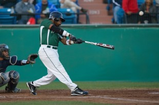 Center fielder B.J. Boyd hits a triple off the right field wall to leadoff the first inning in Paly&#039;s CCS semifinal loss against Valley Christian High School. &nbsp;Boyd would score from third base a play later on a Jack Witte groundout to give the Vikings an early 1-0 lead.